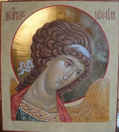 Apocalypse Work by Ekaterina Daineko, for icon planair in P Byzantine Icons, Byzantine Art, Religious Icons, Religious Art, Gabriel, Order Of Angels, Greek Icons, Biblical Art, Archangel Michael