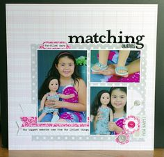 Challenge use at least three different PTI dies on your layout Photo Layouts, Matching Outfits, Outfit Of The Day, At Least, Challenges, Memories, Frame, Fun, Scrapbooking