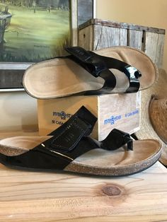 CLARKS Womens Perri Coast Slide Thong Sandals Black Patent Leather 26100639 9.5  | eBay