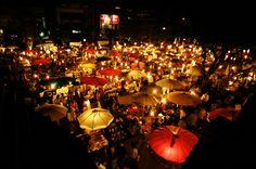 Du Lịch Chợ đêm Chiang Mai Thái Lan