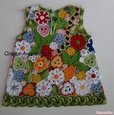 Irish crochet kids dress--- I wish!! One day I will be that good!!