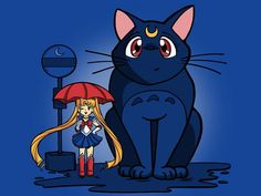 My Neighbor Luna, cute anime mashup shirt by TeeTurtle with guest artist Karen Hallion. This is on our retired shirts list but you never know what we're going to bring back!