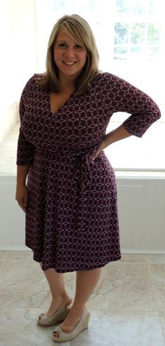 Stitch Fix Renesme Geo Cube Print Faux Wrap Dress-i thought the color and design of this dress was really feminine.