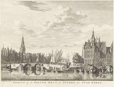 Gezicht op Amsterdam, anoniem, 1729 - 1830