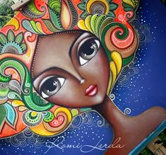 "En el dia mundial  de la lucha contra el cancer de mama. ♀️💗Nueva obra ""Renacer"" 1m x 80 cm #romilerdart #19deoctubre #diamundialdelaluchacontraelcancer Art Journal Inspiration, Painting Inspiration, Big Eyes Paintings, Turkish Art, Alcohol Ink Art, Whimsical Art, Fabric Painting, Face Art, Doodle Art"