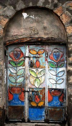 Bohemian style door
