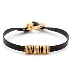 bits and baubles leather bracelet | Cullen Leather Bracelet