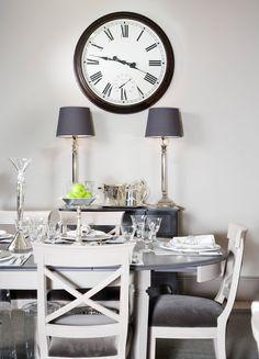 table ...grey top cream bottom..
