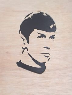 A personal favorite from my Etsy shop https://www.etsy.com/listing/214208481/mr-spock-portrait-wall-hanging