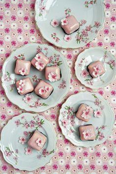 cherry blossom petit fours