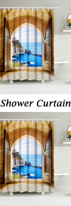 Cortinas de baño con 12 ganchos Elegante tela para gatos 70x70 Estilo 7