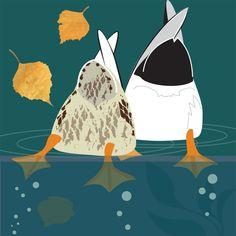 Dabbling ducks by Rachel Hudson Illustration. Painting Inspiration, Art Inspo, Duck Illustration, Duck Drawing, Duck Wallpaper, Duck Art, Bird Quilt, Spring Painting, Bird Prints