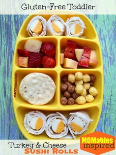 preschool lunch ideas | Gluten-free toddler lunch ideas @Laura Fuentes/ MOMables.com inspired