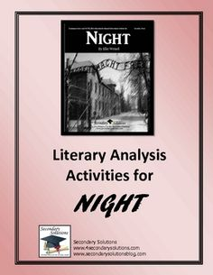 "literary analysis essay on night by elie wiesel ""book report - night by elie wiesel essay example 