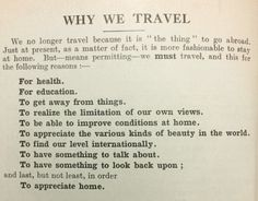 why we travel,1932 #Tourism - #Nonplace - #Traveller