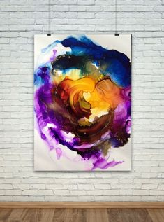 Broken Circle abstract alcohol ink painting by Linda Crocco #lindacroccostudio #alcoholinks #abstract #artist