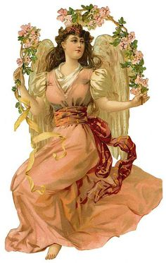 Victorian Die Cut of Angel