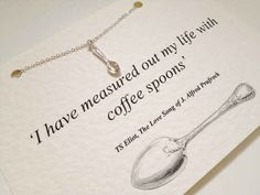 TS Eliot   16 Stunning Minimalist Necklaces Inspired By Famous Authors