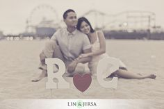 Santa Monica Engagement Session | Christina and Rowell