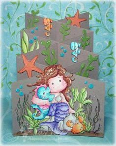 Cascading Card - Mermaid - under the sea theme - bjl