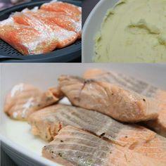 RECEITA COMBINADA THERMOMIX: Purê de batata com salmão e legumes no vapor