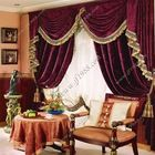 Free Shipping Quality luxury fashion red velvet thickening flash living room curtain customize Living room