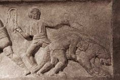 Germiyan frieze : bestiarius and bear- Arcehological museum of Istanbul-part3