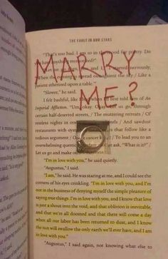 he even put it in the fault in our stars!! this man is a keeper ;) <3<<<Yeah but anyone who destroys a book like that should not be someone you keep around