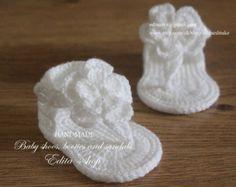 Free Crochet Pattern - Fancy Pearl Baby Booties/Sandals ...