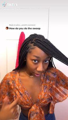 Cute Box Braids Hairstyles, Box Braids Hairstyles For Black Women, Hair Ponytail Styles, Braids Hairstyles Pictures, Black Girl Braids, African Braids Hairstyles, Braids For Black Hair, Girls Braids, Curly Hair Styles
