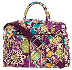 I am still SO in love with the Vera Bradley Plum Crazy pattern! Weekender in Plum Crazy Vera Bradley Weekender Bag, Vera Bradley Tote, Kate Spade Luggage, Blue Bayou, Pack Your Bags, All Things Purple, Purses And Bags, Plum, Favorite Things