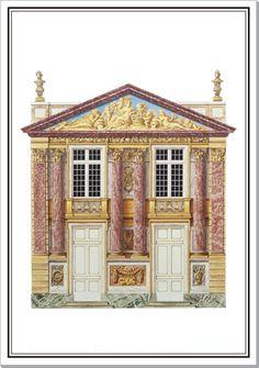 Andrew Zega and Bernd H. Dams, watercolor, Marly, Pavillon de l'abondance