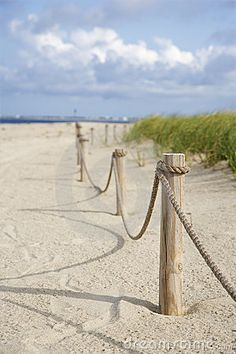 Rope fence on beach. Image of beach, marram - 2051611 Rope Fence On Beach. Rope Fence, Rope Railing, Railings, Coastal Gardens, Beach Gardens, Cottages By The Sea, Beach Cottages, Permaculture, Outdoor Landscaping