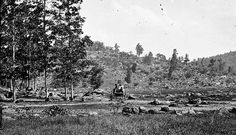 The western slope of Little Round Top as viewed from the Plum Rum Valley in 1863. Courtesy of the US Library of Congress Gettysburg, Pennsylvania.