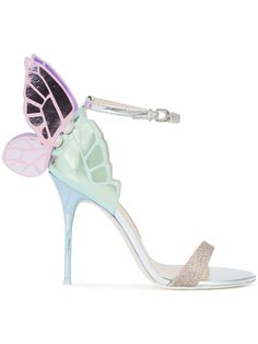 Shop Sophia Webster winged stiletto sandals.