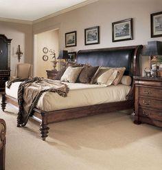 King Upholstered Napoleon Bed Main Image