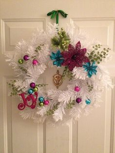 Homemade winter wreath. $14 worth of supplies from Michaels!