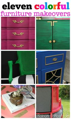 Go bold or go home with these colorful furniture makeovers! These are sure to have you drooling and reaching for the paintbrush at the same time.