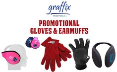 Print your customized #logo and #names on Hand Gloves and Earmuffs @ Graffix Promotionals Inc. #handgloves #earmuffs #printlogo #products #business #canada #victoria #usa