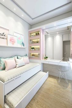 Teenage Girl Bedroom Ideas For Small Rooms. Need some teen bedroom ideas for gir. - Teenage Girl Bedroom Ideas For Small Rooms. Need some teen bedroom ideas for girls? Check out diffe - Bedroom Tv Stand, Small Room Bedroom, Trendy Bedroom, Modern Bedroom, Diy Bedroom, Bedroom Ideas For Small Rooms For Girls, Bedroom Girls, Bedroom Furniture, Modern Teen Bedrooms