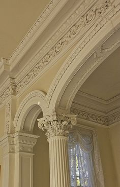 More crown molding Classic Interior, Home Interior, Interior Decorating, Interior Design, Architecture Design, Amazing Architecture, Moldings And Trim, Crown Molding, Moulding