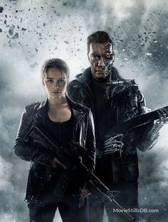 Terminator Genisys promotional art with Arnold Schwarzenegger & Emilia Clarke