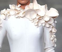 Textural Embellishment for 3D textures inspired by organic form; couture fashion detail // Stephane Rolland Spring 2013