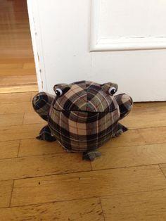 #frog #doorstopper from #marksandspencer #tartan