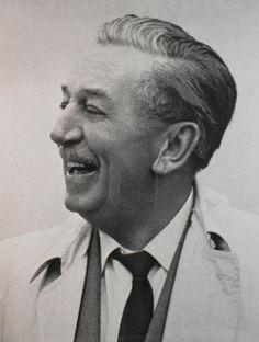 Walt Disney with big smile