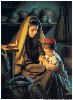Mary and Jesus -- this is so beautiful <3