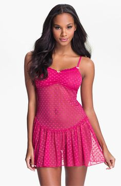 Betsey Johnson 'Heart' Mesh Slip. Cute little pink hearts everywhere! And the back is adorable too.  Very sweet.