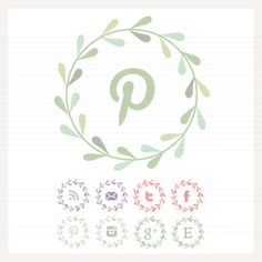 Leaf Garland Social Buttons. Too cute. Have to look into all those cute social buttons when I redesign our blog...
