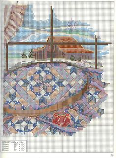 """""""January - Quilts For All Seasons"""" a cross stitch pattern by Paula Vaughan.   Found on elypetrova.gallery.ru"""