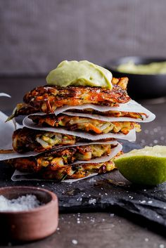Crispy Vegetable Rösti made with carrots, potatoes, onions, zucchini and parsnips fried until golden and served with silky smooth avocado cream. #recipeoftheday #easyrecipe #dinnerideas #vegan #vegetarian